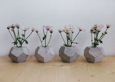 //small concrete vases by frauklarer