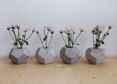 //small concrete vases by frauklarer #vase #frauklarer #concrete