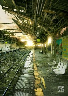 YOYOGI STATION GENSO by tokyogenso on deviantART #city #apocalypse #overgrown