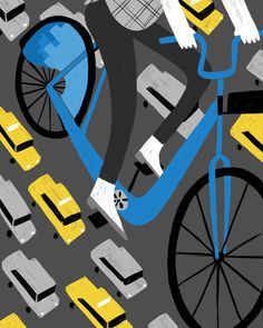 Coffee Bike #bicycle #traffic #illustration #bike #street #cycling