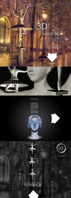 3D Model | lady statue | workflow #statue #workflow #3d