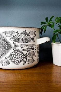 kaj franck fish pot #pot #fish #vessels #kitchen
