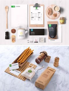 free Food Packaging & Branding MockUps