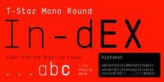 T-Star Mono Round | Gestalten Fonts #font #typography