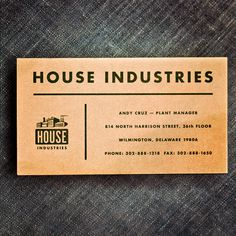 house industries, first business card, 1994, andy cruz, #houseindustries instagram