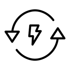 See more icon inspiration related to power, ecology and environment, biofuel, circular arrows, renewable energy, ecology, electronics, industry, ecological, recycle, energy, technology and arrows on Flaticon.
