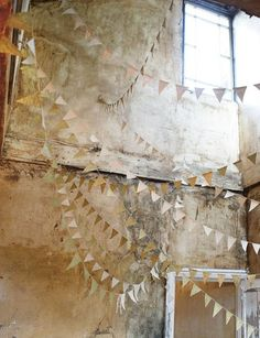 THE BROWN WORKSHOP #ruin #photo #wall #triangles #light #monochromatic