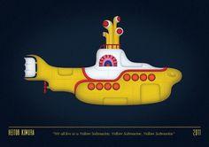 Heitor Kimura #beatles #heitor #yellow #the #illustration #kimura #poster #submarine