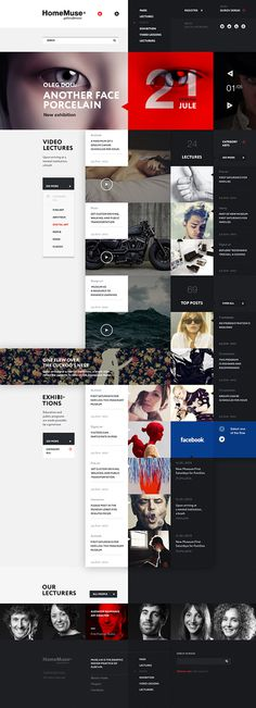 HomeMuse Gallery on Behance #layout #design #websites
