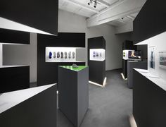 Nike Free 2013 installation by Studio at Large #black #nike #store #stadium