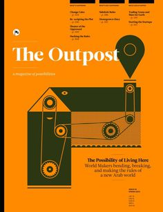 The Outpost (Beyrouth / Beirut, Liban / Lebanon) #design #graphic #cover #illustration #editorial #magazine