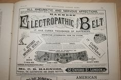 Electric Body Belt? - SciForums.com #vintage #advertising