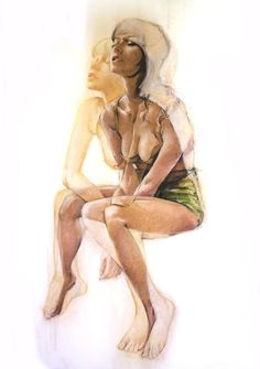 Jane Radstrom's Double Exposure Drawings | Hi Fructose Magazine #double exposure