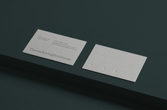 New logotype, folder, embossed business cards and illustration by A Friend Of Mine for Planned Living Architects.