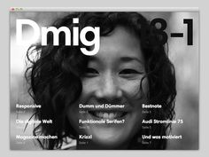 dmig website #text #responsive #website #mask #typography