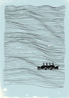 Lost at Sea  - By Koning #illustration #sea #koning