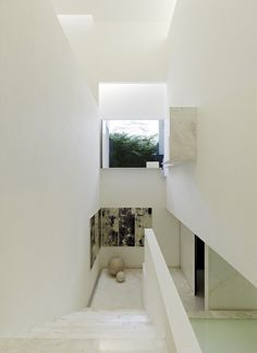 White residence stairs