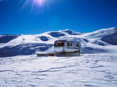 remote rv. #airstream #glacier #photography #rv #winter