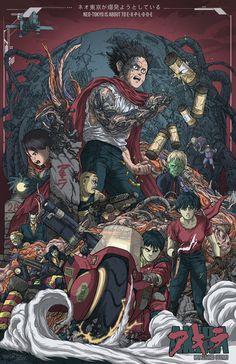 X__X • 死 者 の 顔 • #akira #tetsuo #anime #illustration