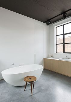 Bathroom. Nylønfabrik by Kove Interior Architects. Photo by Luc Roymans. #minimal #bathroom