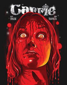 Illustrated Covers Of Cult Horror Films - Design - ShortList Magazine #blood #carrie #horror #cover #illustration #poster #film #face #scary