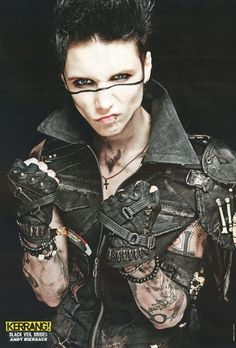 Andy Biersack #bvb #rock #brides #black #music #fashion #veil