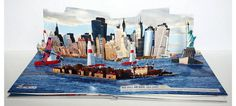 Red Bull New York 2010 Air Race #3d #popup #pop up #brochure