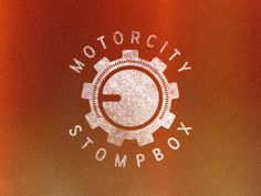 Dribbble - Motorcity Stompbox Gear by Eric Livingston #guitar #pedals #motor #city #identity #logo