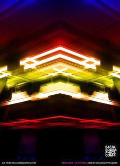 Neon Lights - Face To Face on the Behance Network #layout