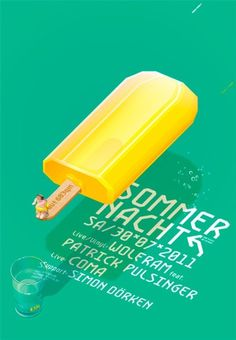 Sommer Nacht #digital #design #art #vector