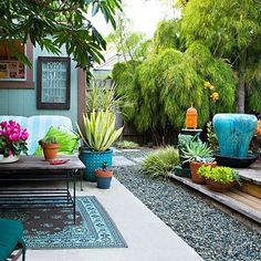 Cool, calm & collected color #interior #garden #design #decoration