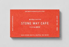Stone Way Cafe by Shore #graphic design #business card #print