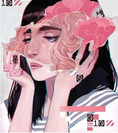 1Q84 : Sachin Teng #murakami #sachin #illustration #teng #surreal #wired #magazine #1q84