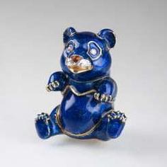 Pierino Frascarolo (Milan 1928 - Valenza, 1976). Miniature Gold Tin Of 'Blue Panda'