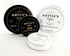 dottie's toffee #toffee #branding #packaging #candy #chocolate #tin