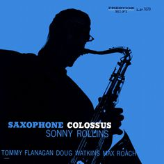 Sonny Rollins saxophone silhouette album art monotone jazz