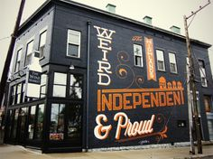 Bryan Patrick Todd - Design & Illustration - Blog #mural #design #orange #black #typography