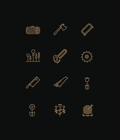 Icons by Tim Boelaars, via Behance #sign #forest #icons