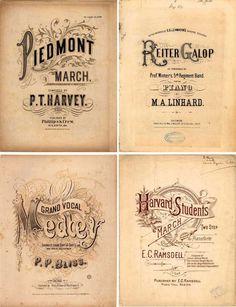 SheetMusic2 #vintage #victorian #sheet music