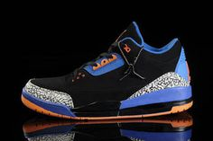 Royal Blue and Black/Orange/Grey Cement Air Jordan 3 Retro Basketball Size 14 & 15 Sneakers - Suede #shoes