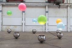 Interactive installation that lets you play with giant colourful orbs that levitate in mid-air | Creative Boom