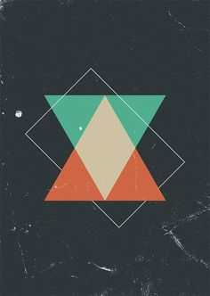 Time - Marius Roosendaal #iphone #wallpaper #space #triangles