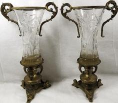 Two crystal вазы19 century