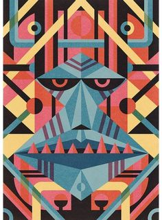 grain edit · modern graphic design inspiration blog + vintage graphics resource #illustration #mask #geometric