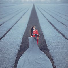 Oleg Oprisco's Stylized Photography Indulges the Fantasy of Escape | Hi-Fructose Magazine #photography #field #grey #red #escape #stylish