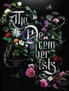 Sean Freeman, The Decemberists #flower #typography