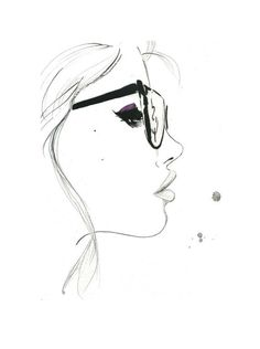 That Nerdy Girl Print from original by JessicaIllustration #inspiration #nerd #girl #illustration #portrait