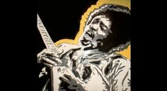 Jag Nagra is Page 84 Design #white #jimi #yellow #black #painting #hendrix