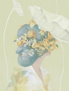 Hsiao Ron Cheng's Recent Portraits | Hi Fructose Magazine #hair #portrait #flowers