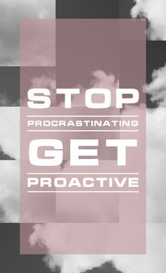 Stop Procrastinating - Red